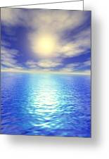 Scenic Ocean View Greeting Card