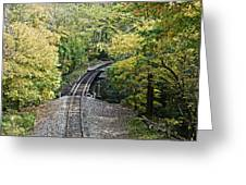 Scenic Railway Tracks Greeting Card