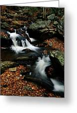 Scenic View Of A Waterfall On Smith Greeting Card