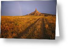 Scenic View Of Western Nebraska Greeting Card
