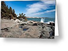 Schoodic Waves 4645 Greeting Card