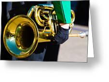 School Band Horn Greeting Card