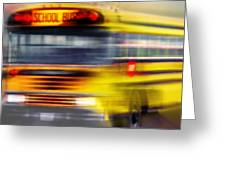School Bus Rush Greeting Card