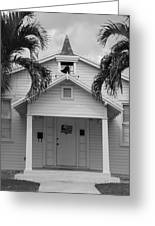 School House In Black And White Greeting Card