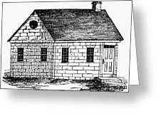 Schoolhouse, 18th Century Greeting Card