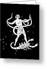 Scorpio And Ophiuchus Constellations Greeting Card by