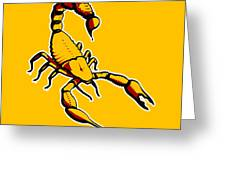Scorpion Graphic  Greeting Card by Pixel Chimp