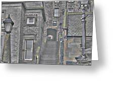 Scotish Stairs Greeting Card