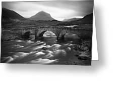Scotland Sligachan River Greeting Card by Nina Papiorek