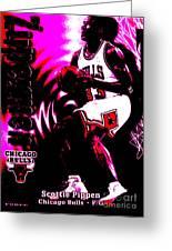 Scottie Pippen Greeting Card