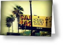 Screen Actors Guild In La Greeting Card