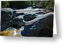 Screw Auger Falls Top 3 Greeting Card