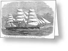 Screw Steamship, 1864 Greeting Card