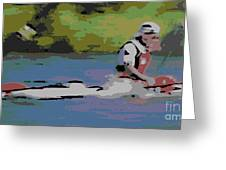 Sculling For The Win Greeting Card