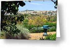 Sculpture Garden In Sicily 2 Greeting Card