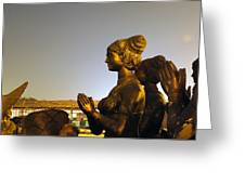 Sculpture Of A Woman Greeting Card