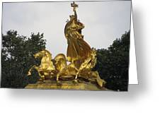 Sculpture Of Columbia Triumphant  Greeting Card