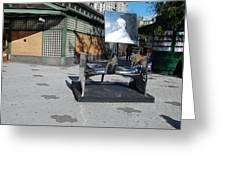 Sculptures On The Corner Greeting Card