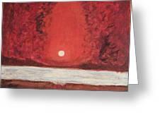 Sea And Moon Greeting Card