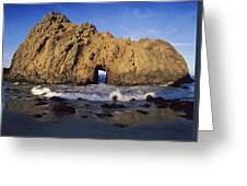 Sea Arch At Pfeiffer Beach Big Sur Greeting Card
