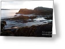 Sea At Sunset Greeting Card