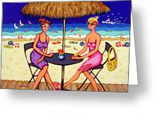 Sea For Two - Girlfriends At Beach Greeting Card