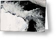 Sea Ice In The Southern Ocean Greeting Card