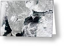 Sea Ice Lines The Coasts Of Sweden Greeting Card