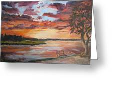 Sea Island Sunset Greeting Card