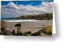 Sea Landscape With Bay Beach Greeting Card