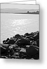 Sea Of Galilee In Black And White Greeting Card