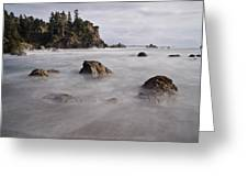 Sea Rocks And Surf Greeting Card
