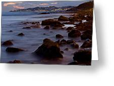 Sea Rocks Land Greeting Card