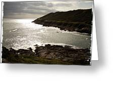 Sea Scape On The Gower Greeting Card