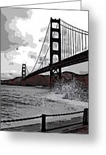 Sea Spray Under The Golden Gate Bridge Greeting Card