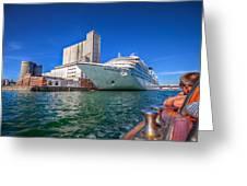 Seabourn Sojourn In Copenhagen. Greeting Card