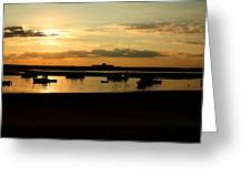 Seabrook At Sunset 1a Greeting Card