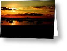 Seabrook At Sunset 1b Greeting Card
