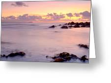 Seafield Sunset Greeting Card