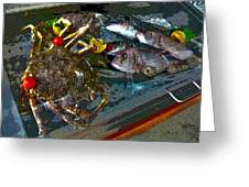 Seafood In Opatija -1 Greeting Card