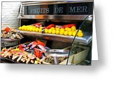 Seafood Market In Nice Greeting Card
