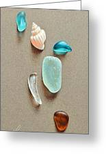 Seaglass Pieces Greeting Card