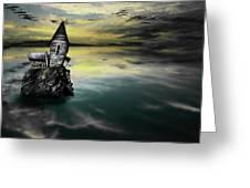 Seagull Island Greeting Card