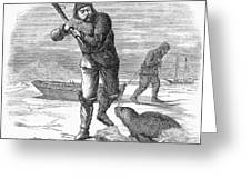 Seal Hunting, 1867 Greeting Card