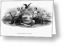 Seal Of New York, 1870 Greeting Card
