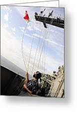 Seaman Raises The Foxtrot Flag Greeting Card