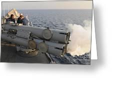 Seamen Fire An Air Slug From A Mk-32 Greeting Card