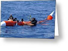 Search And Rescue Swimmers Retrieve Greeting Card