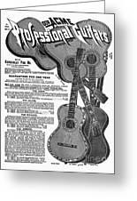 Sears Ad - Guitars 1902 Greeting Card