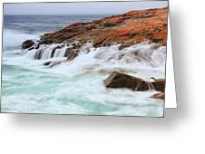 Seas On Schoodic Point Greeting Card
